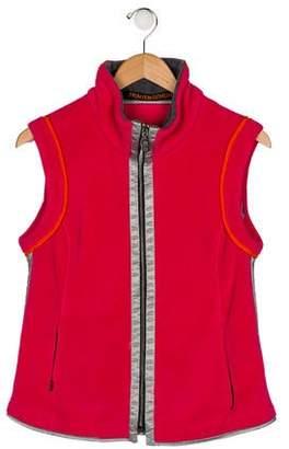 Frauenschuh Girls' Mock Neck Zip-Up Vest