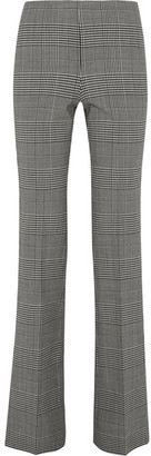 Theory - Demitria Prince Of Wales Checked Stretch-wool Flared Pants - Gray $365 thestylecure.com
