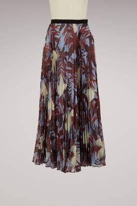 Erdem Nesrine pleated long skirt