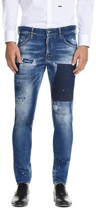 DSQUARED2 Patched Slim Fit Jeans