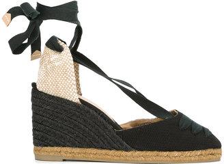 Castañer tie ankle wedge espadrilles $117.90 thestylecure.com