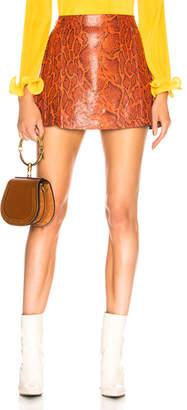 Chloé Snakeskin Printed Leather Mini Skirt