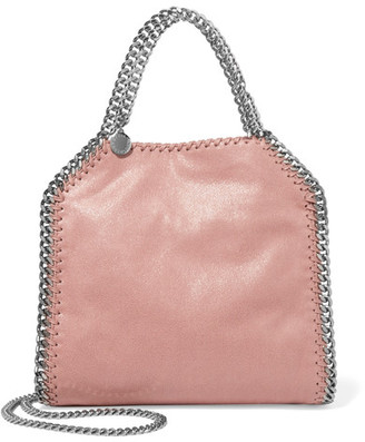 Stella McCartney - The Falabella Mini Faux Brushed-leather Shoulder Bag - Blush $1,000 thestylecure.com