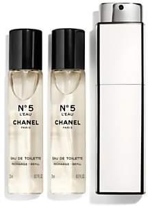 58d3123fb46 at John Lewis and Partners · Chanel N°5 L Eau Purse Spray 3 x 20ml