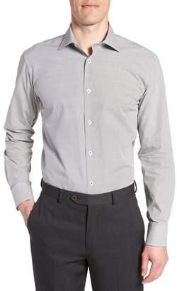 Bugatchi Trim Fit Print Dress Shirt