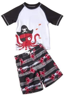 cea0943ddf Trunks Wippette Baby Toddler Boy Captain Octopus Rashguard & Swim Trunks,  ...
