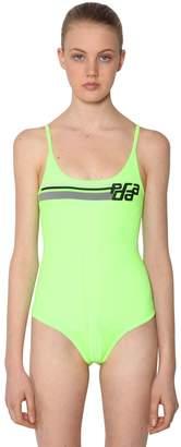 Prada Logo Intarsia Stretch Bodysuit
