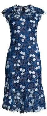 Elie Tahari Florance Floral Lace Sheath Dress
