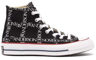 J.W.Anderson Converse X Chuck 70 Grid High Top Canvas Trainers - Womens - Black