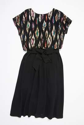 Vintage Loves Vintage 1970s Metallic Ikat Maxi Dress