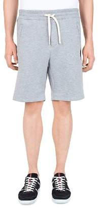 The Kooples Tricolor Stripe Fleece Shorts