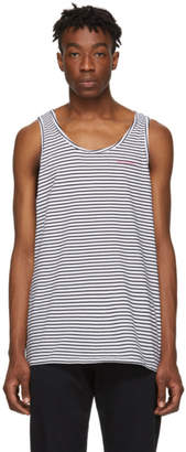 Saturdays NYC Black and White Nick Tank Top