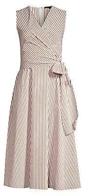Kobi Halperin Women's Dina Striped Sleeveless Wrap Dress