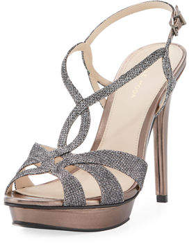 Pelle Moda Farrel Metallic Dressy Sandal