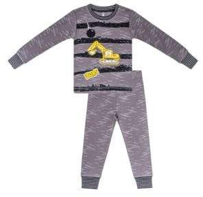 Petit Lem Little Boy's Construction Two-Piece Cotton Pajama Top & Pants Set