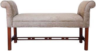 One Kings Lane Vintage Upholstered Bench - The Gilded Room