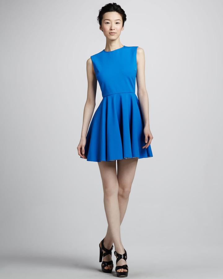Diane von Furstenberg Jeannie Fit-and-Flare Dress, Electric Blue