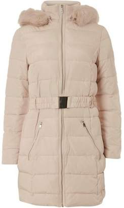 Dorothy Perkins Womens Blush Belted Padded Coat