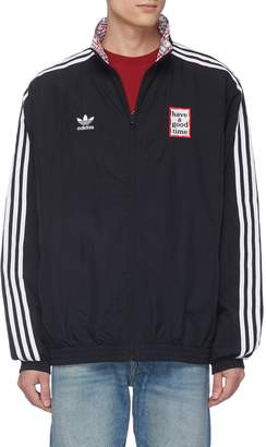 Have A Good Time adidas x Reversible 3-Stripes sleeve logo embroidered track jacket