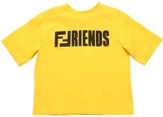Fendi Friends Print Cotton Jersey T-Shirt