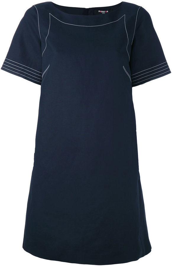 Paule KaPaule Ka contrast stitch T-shirt dress
