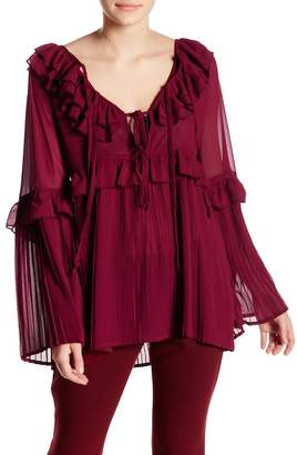 Romeo & Juliet Couture Long Sleeve Lace Up Shirt