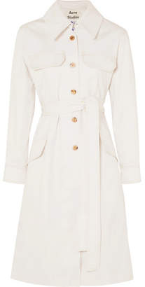 Acne Studios Olesia Cotton-blend Twill Trench Coat - Off-white