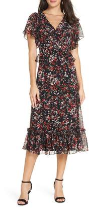 Chelsea28 Floral Ruffle Midi Dress
