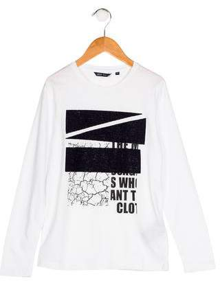 Antony Morato Boys' Wool-Accented Knit Shirt