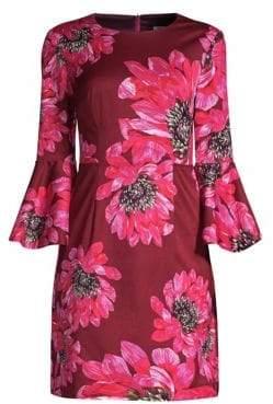 Trina Turk Casa Mexico Splendid Bell-Sleeve Mini Dress