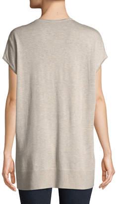 Lilla P V-Neck Dolman-Sleeve Tunic Sweater