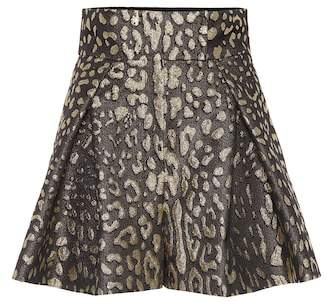Dolce & Gabbana High-rise brocade shorts