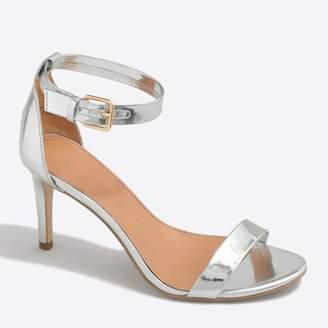 J.Crew Metallic high-heel sandals