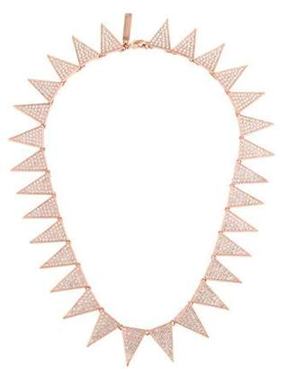 Eddie Borgo Pavé Small Flat Triangle Collar Necklace