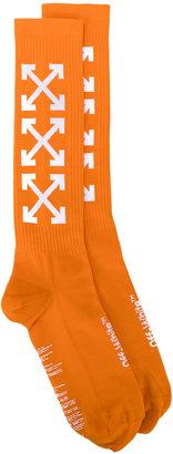 Off-White arrows socks $75 thestylecure.com