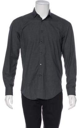 Simon Spurr Grid Print Casual Shirt