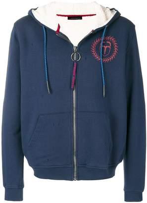 Frankie Morello Vincent zip front hoodie
