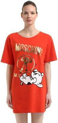 Moschino Pudgy Logo Print Cotton Oversize T-Shirt
