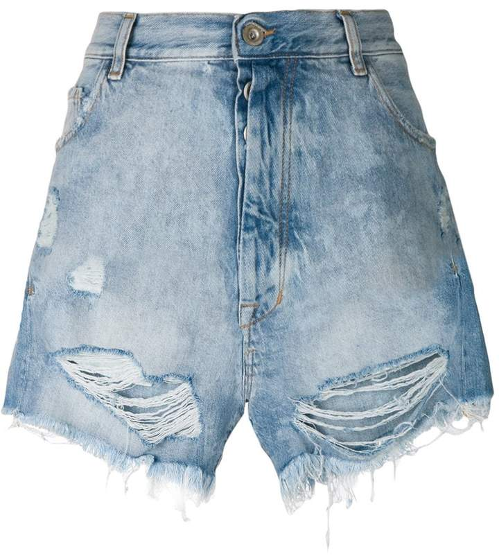 Unravel Project Jeans-Shorts in Distressed-Optik
