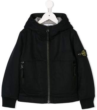 Stone Island Junior hooded zip-up jacket