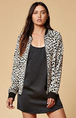 Motel Rocks Cheetah Print Bomber Jacket $99 thestylecure.com
