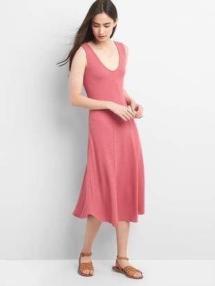 Gap Ribbed Softspun Sleeveless Midi Dress