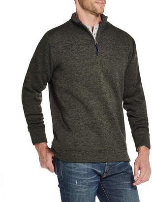 AMERICAN THREADS American Threads Sweater Fleece Mens Long Sleeve Quarter-Zip Pullover