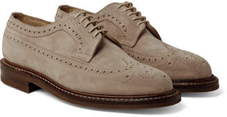 Cheaney Woodchurch Suede Longwing Brogues
