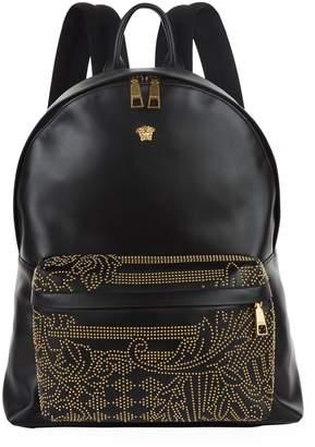 Versace Leather Studded Medusa Backpack
