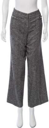 Chanel Tweed Mid-Rise Pants Grey Tweed Mid-Rise Pants