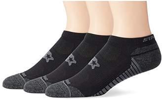 Starter Men's 3-Pack Athletic Microfiber Low-Cut Ankle Socks