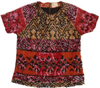 Stella Forest Red Silk Top for Women