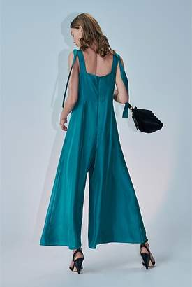 Country Road Tie Shoulder Jumpsuit