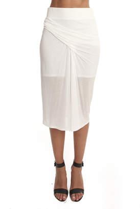 Helmut Lang Entity Jersey Midi Skirt